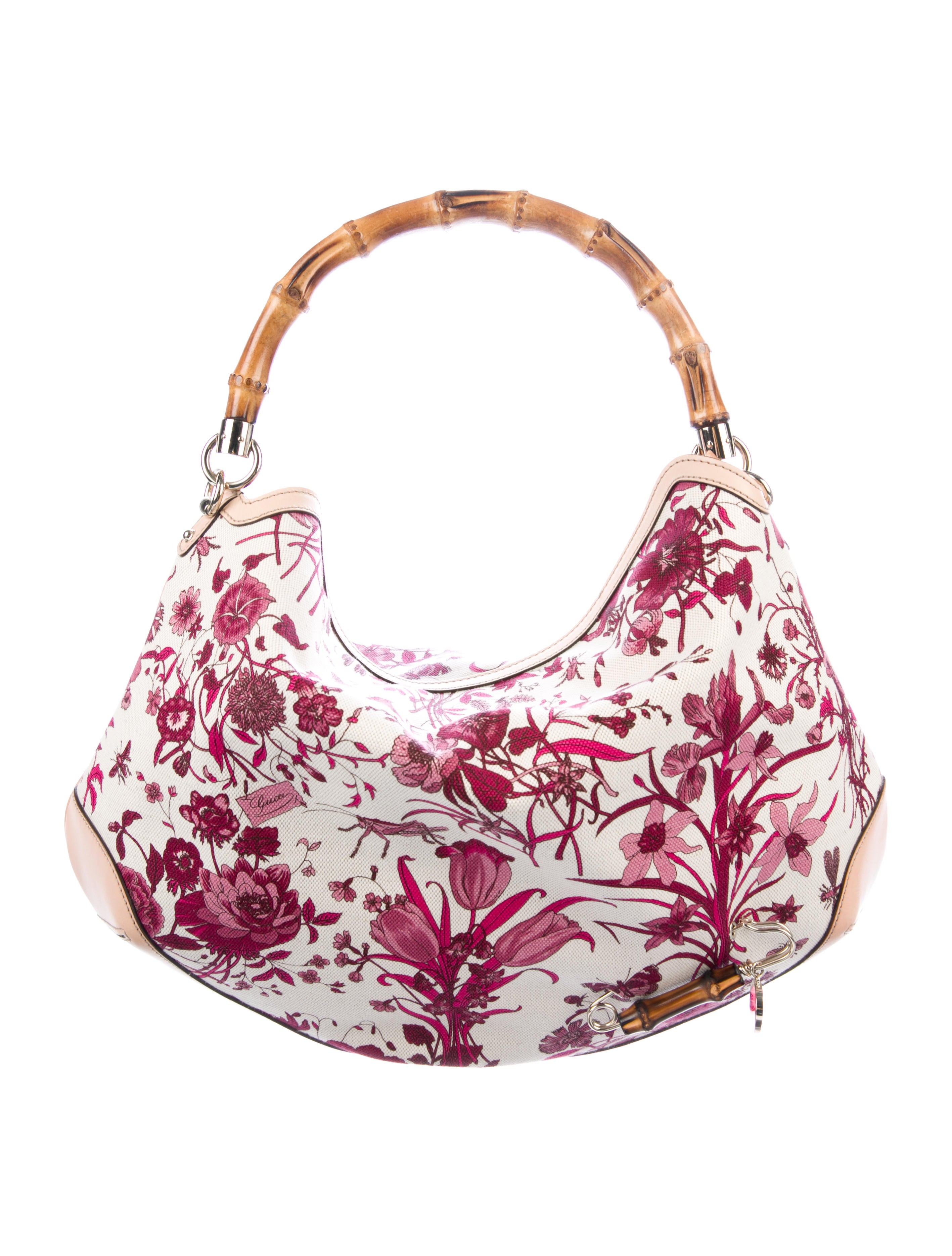 82345132315 Gucci Peggy Flora Bamboo Hobo - Handbags - GUC275897