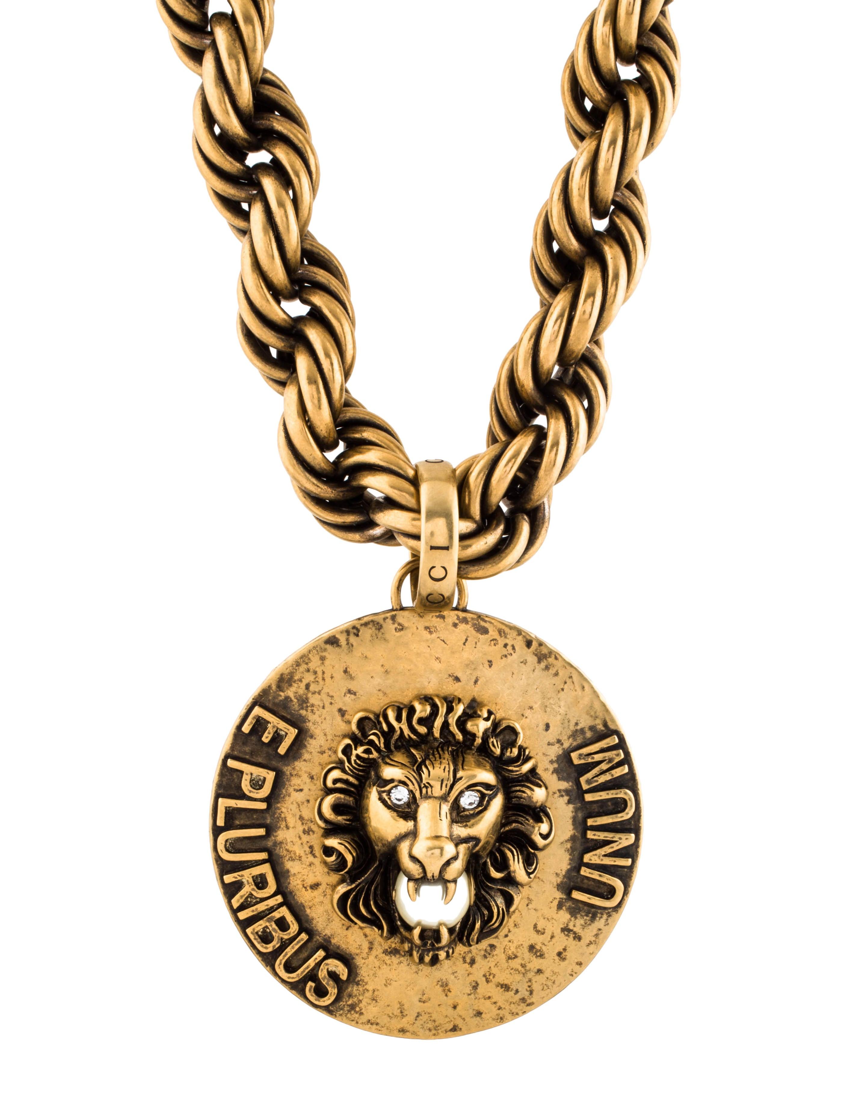 71ddde9d4 Gucci 2018 Dapper Dan Lion Head Pendant Necklace Necklaces