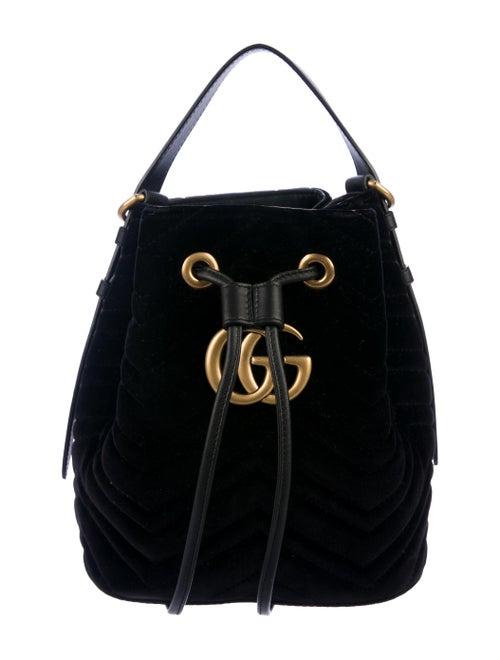 1400978e839b51 Gucci GG Marmont Matelassé Velvet Bucket Bag - Handbags - GUC277476 ...