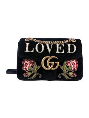 e93bf43ae73 Gucci. GG Marmont Medium Velvet Bag