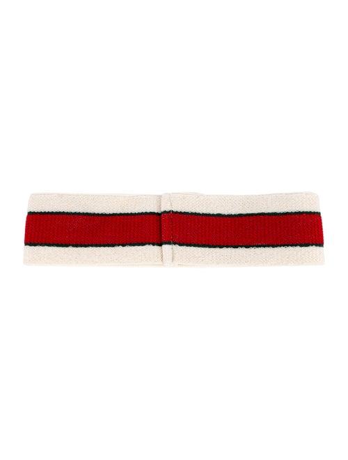 684cdb2fcd9 Gucci 2018 Striped Logo Headband w  Tags - Accessories - GUC277844 ...