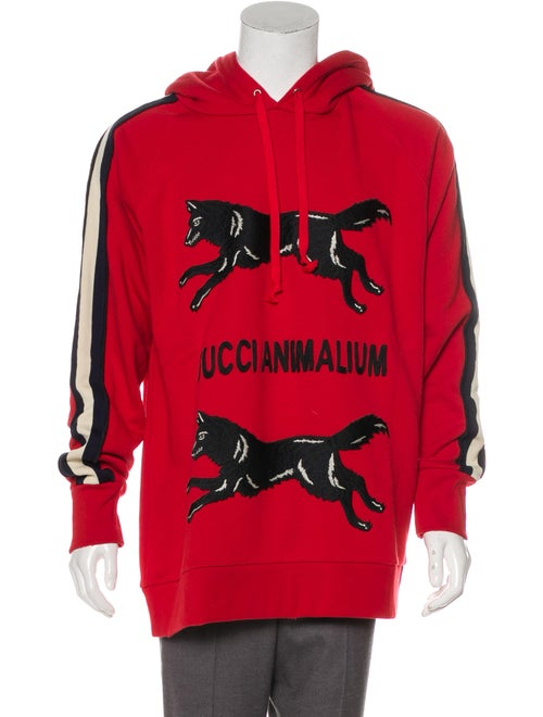 13c43bbe Gucci 2017 'Gucci Animalium' Double Wolves Hoodie w/ Tags - Clothing ...