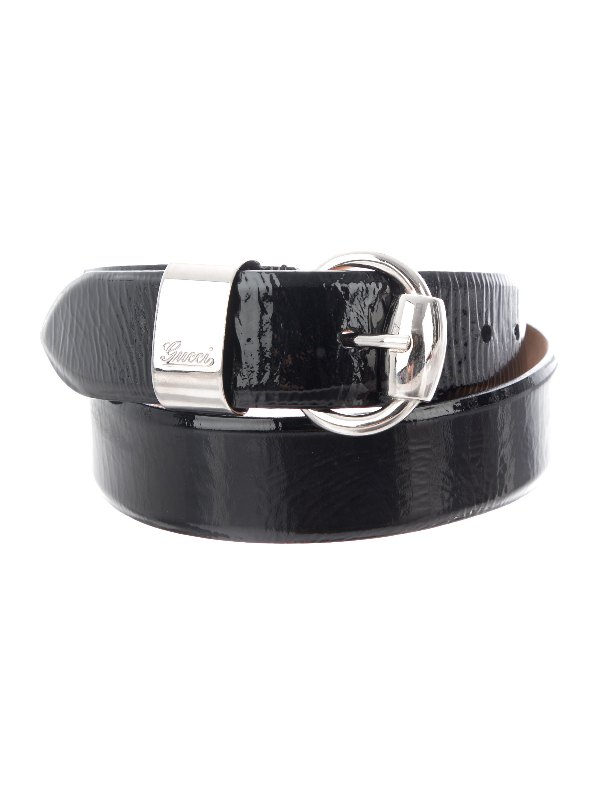 26864629997 Gucci Patent Leather Buckle Belt - Accessories - GUC279170
