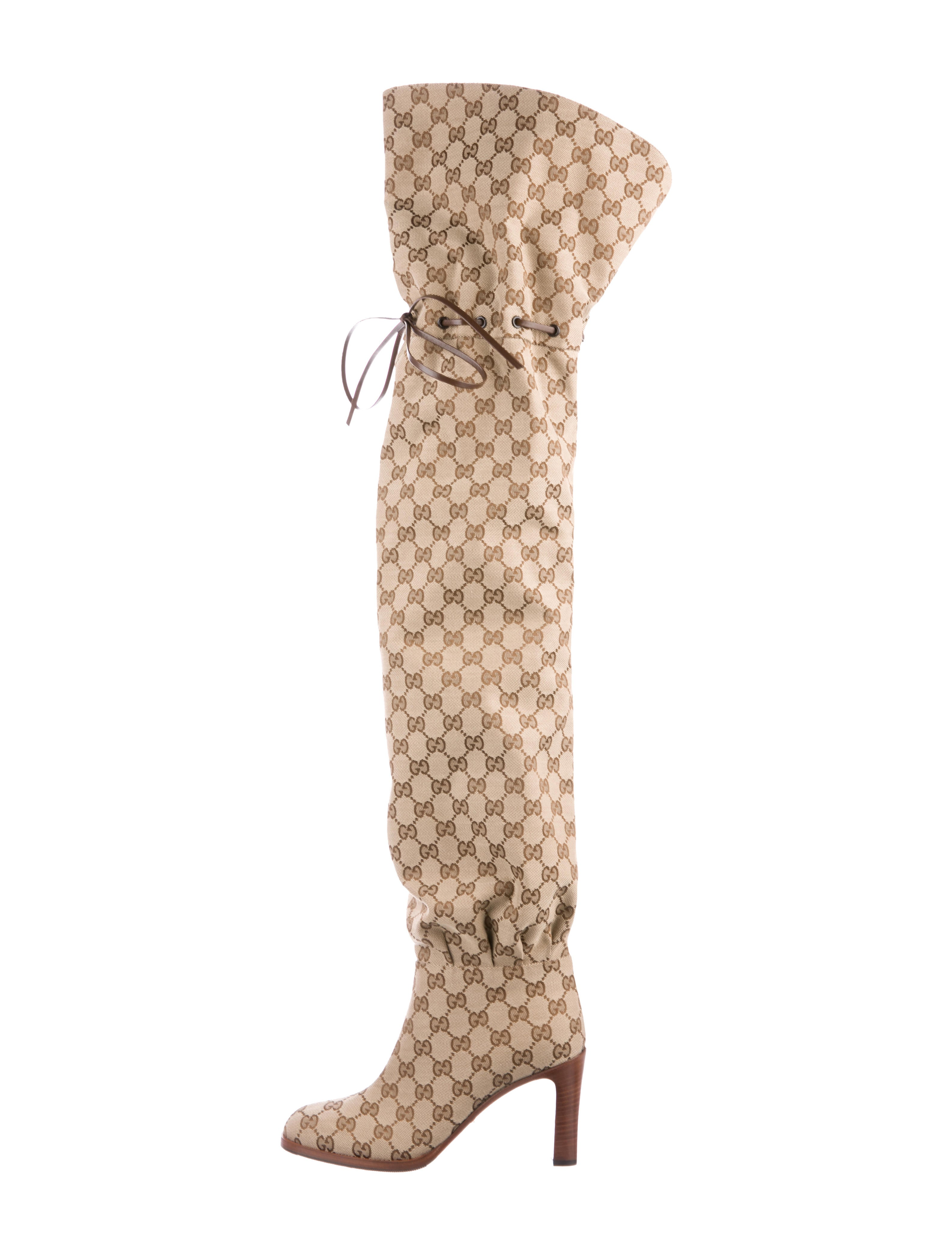 a64d61a791c Gucci Gucci 2018 Lisa GG Canvas Boots - Shoes - GUC279330