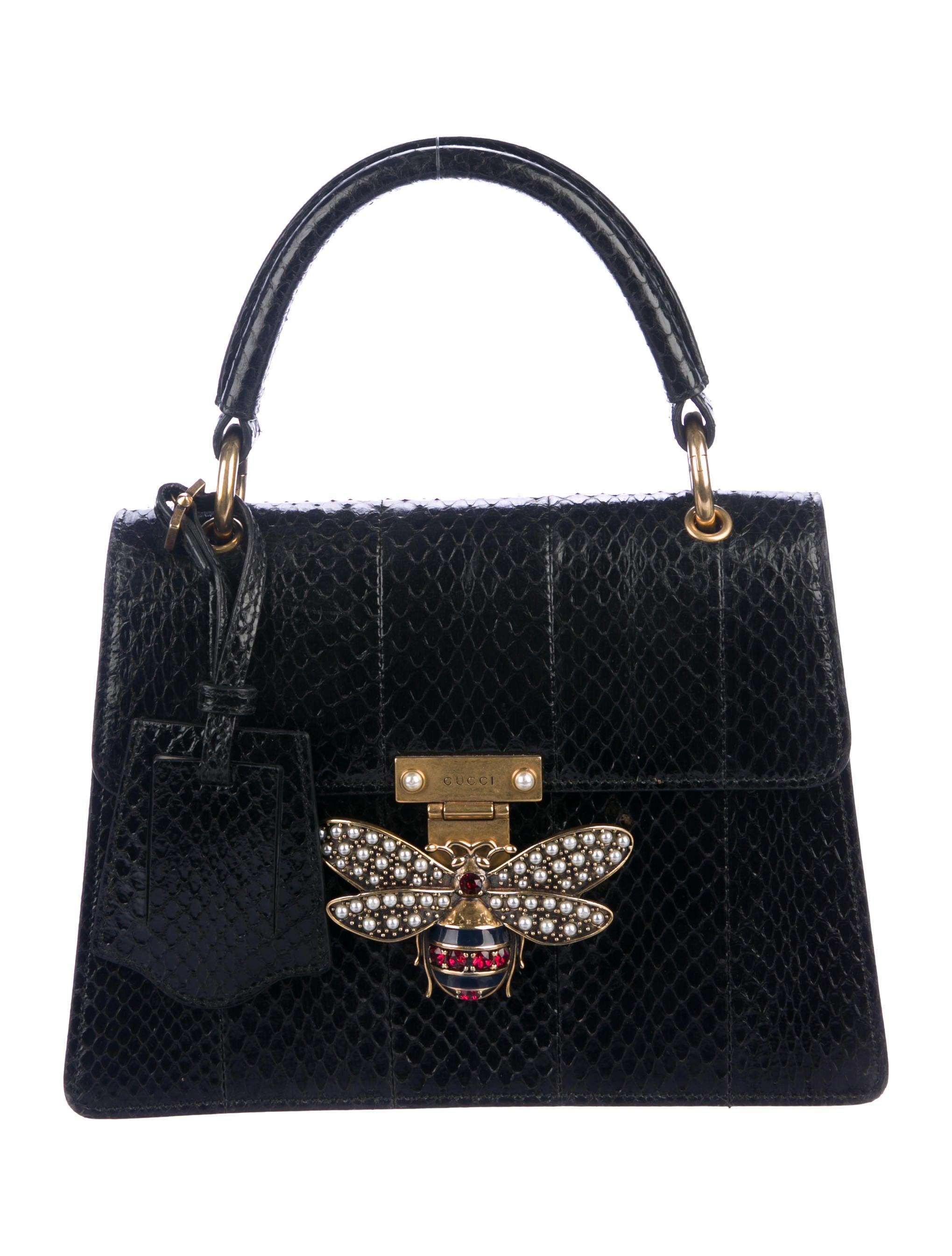 214ae2ca36f Gucci Small Python Queen Margaret Top Handle Bag - Handbags - GUC279332