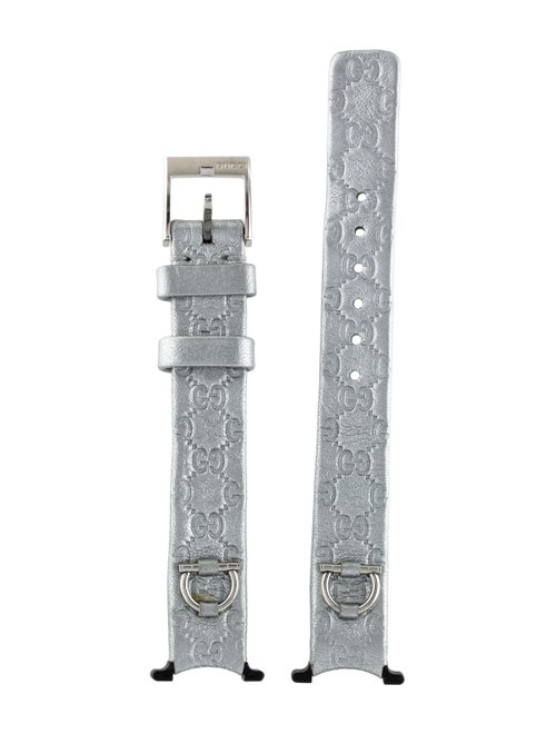 37f4c747cb7 Gucci For U-Play Silver Guccissima Leather Watch Band Strap and ...