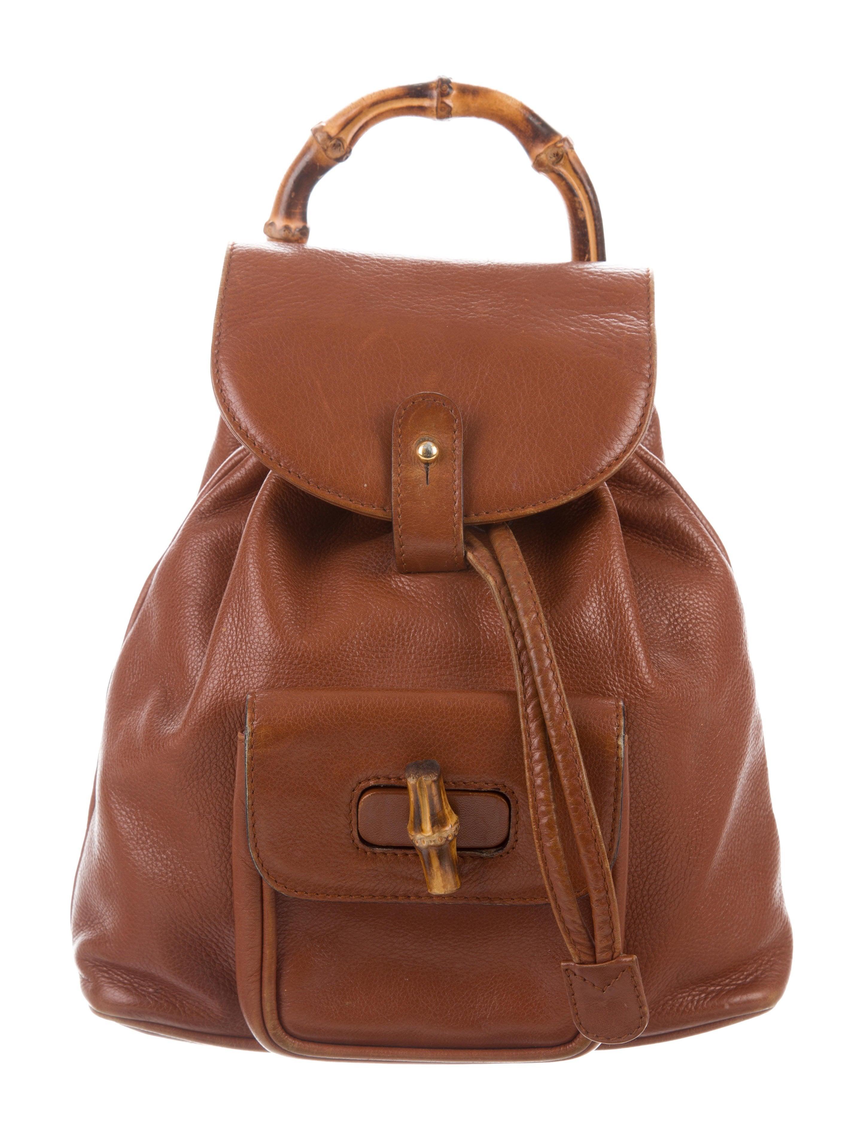 cccda3ff8bda Gucci Vintage Mini Bamboo Backpack - Handbags - GUC281376