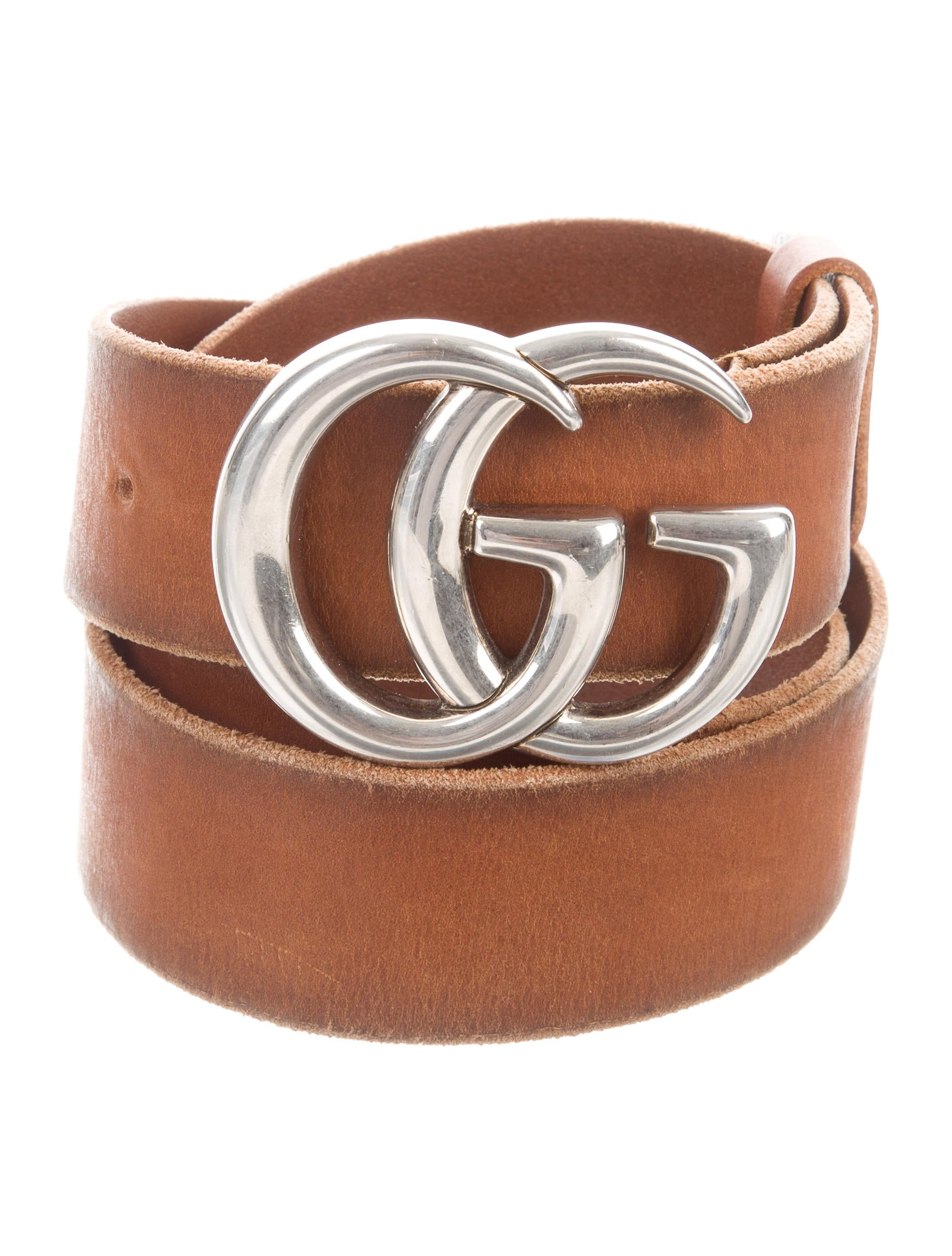 63ee65b1d Gucci Marmont Distressed Leather Belt - Accessories - GUC281995 ...