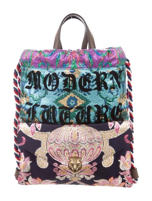 d4abb4e7651e Gucci 2017 Modern Furture Brocade Small Drawstring Backpack ...