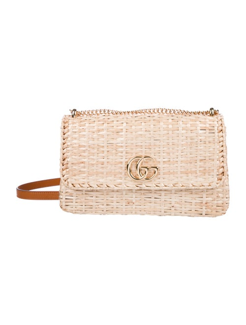fd7db70e7a5ff6 Gucci Small Linea Cestino Glazed Wicker Crossbody Bag - Handbags ...