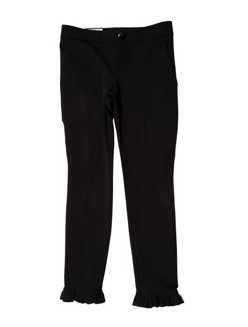 Gucci 2016 Ruffled Mid-Rise Pants Black