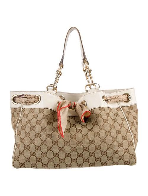 6a3f459f3a00d1 Gucci Positano Scarf Tote - Handbags - GUC28389 | The RealReal