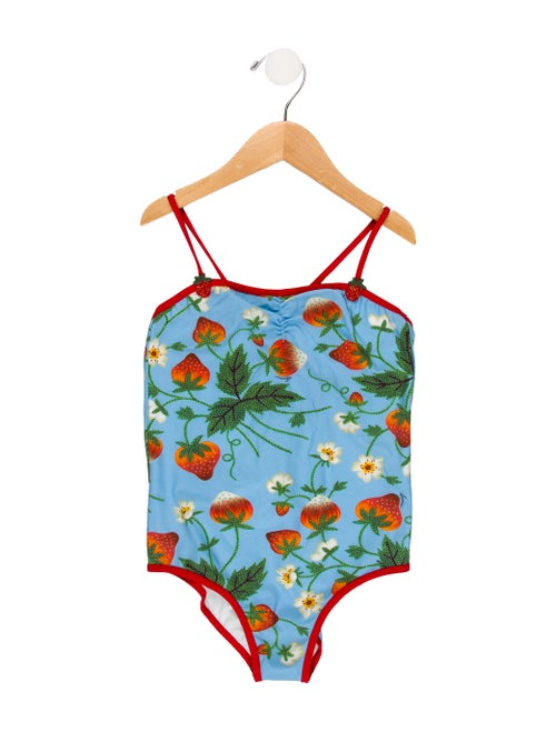 32233c2e701b9 Gucci Girls' Printed One-Piece Swimsuit w/ Tags - Girls - GUC285015 ...