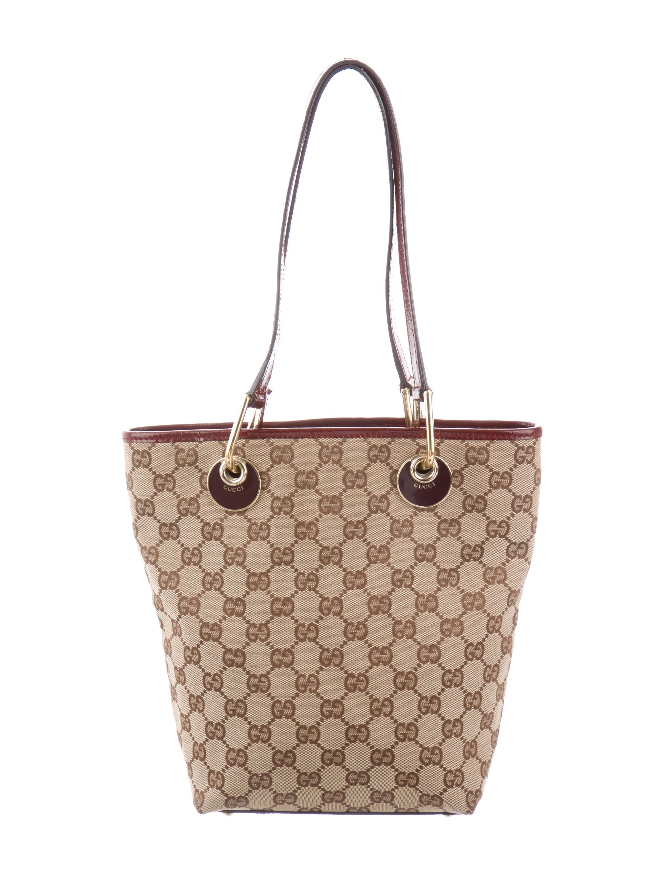 71e8e1c01a43 Gucci GG Canvas Small Eclipse Tote - Handbags - GUC285306 | The RealReal