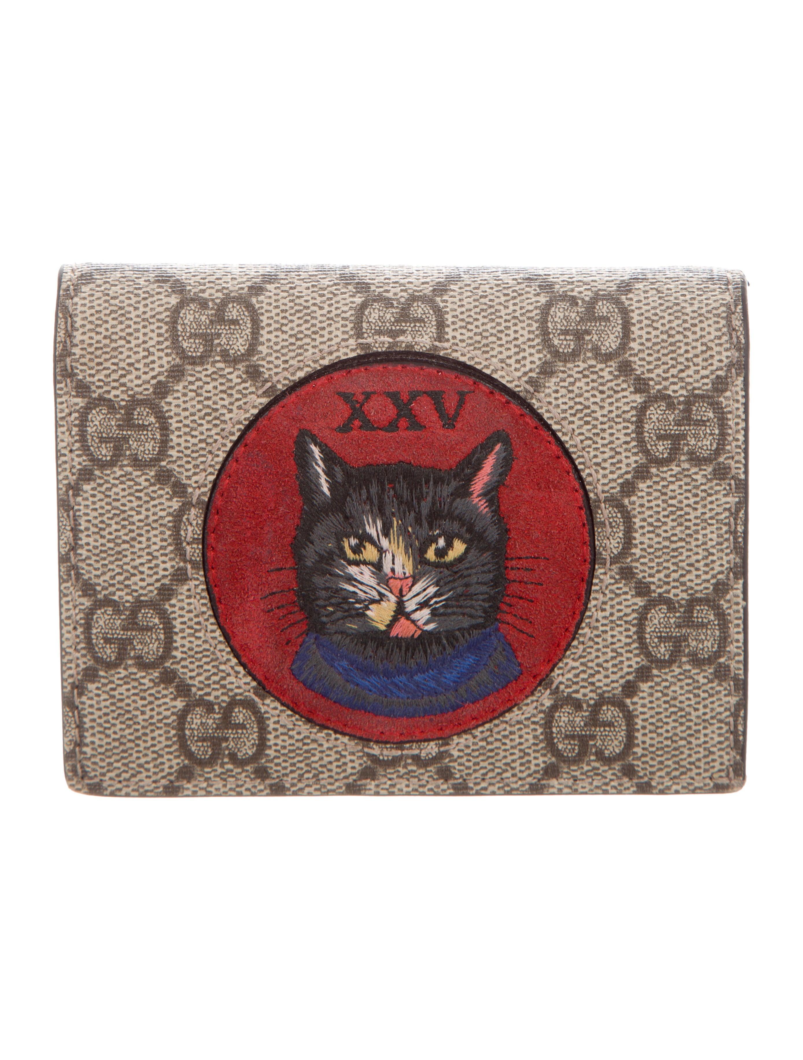 4c929d12da4 Gucci Mystic Cat GG Supreme Card Case - Accessories - GUC285763 ...