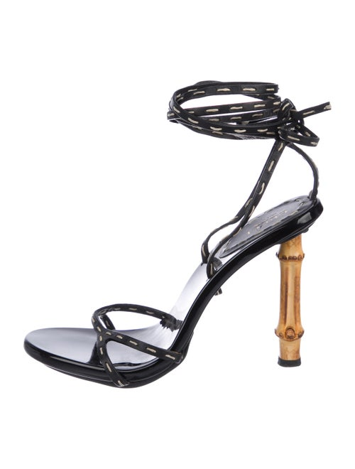 ac5027cf4b90 Gucci Bamboo Wrap-Around Sandals - Shoes - GUC287396