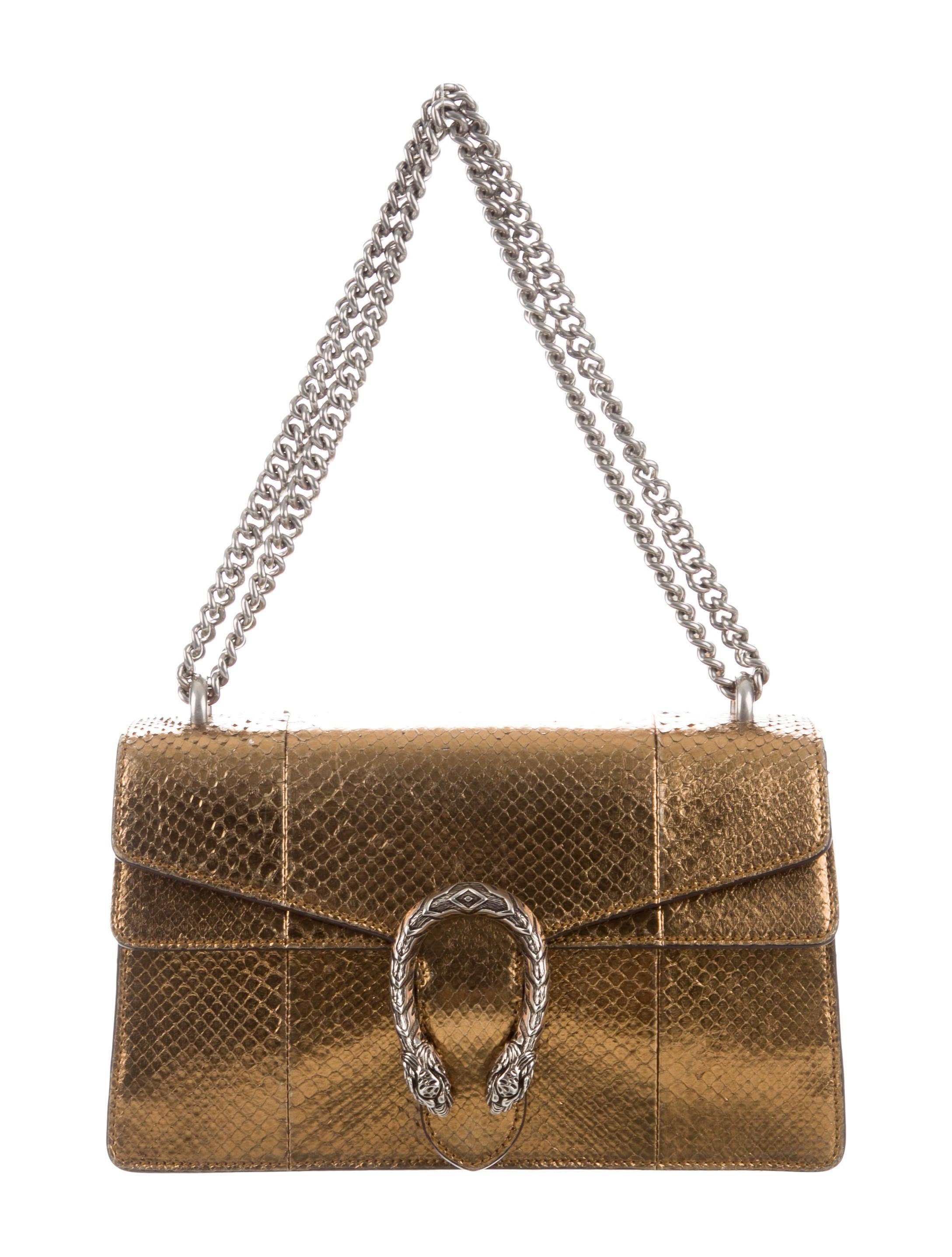 687324b181e ... Crossbody Wallet Bag. Consign. Consign. Gucci Metallic Python Dionysus  Bag Handbags Guc287458 The Realreal