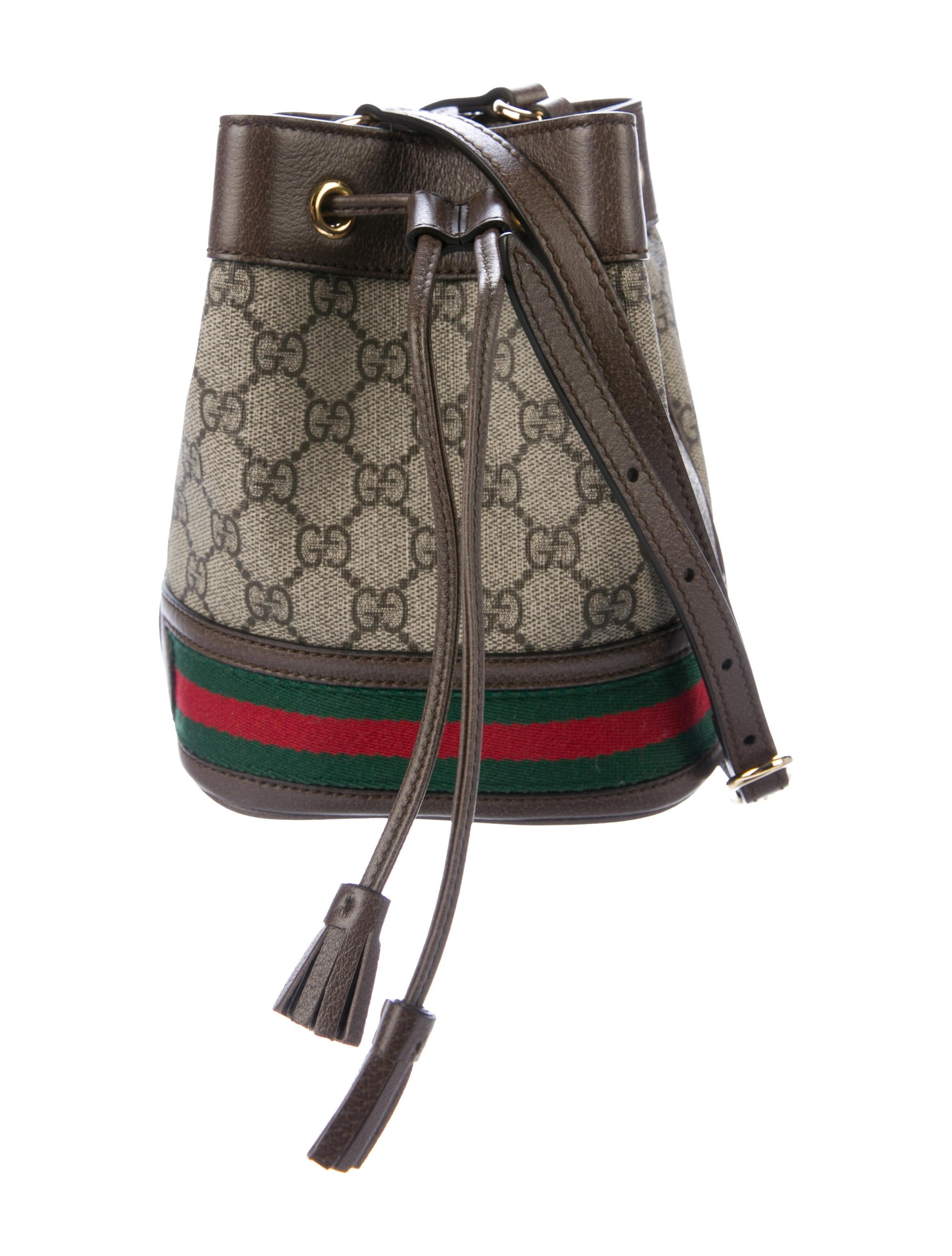Gucci 2019 Gg Supreme Mini Ophidia Bucket Bag Handbags Guc288574 The Realreal