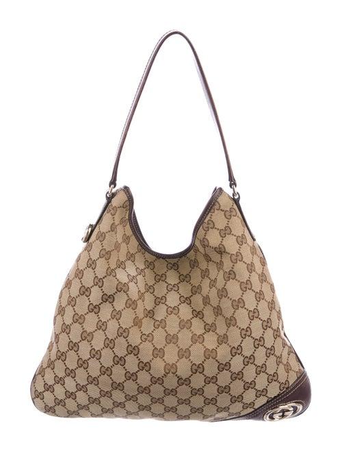 89a0967e3484 Gucci GG Canvas Britt Hobo - Handbags - GUC289762 | The RealReal
