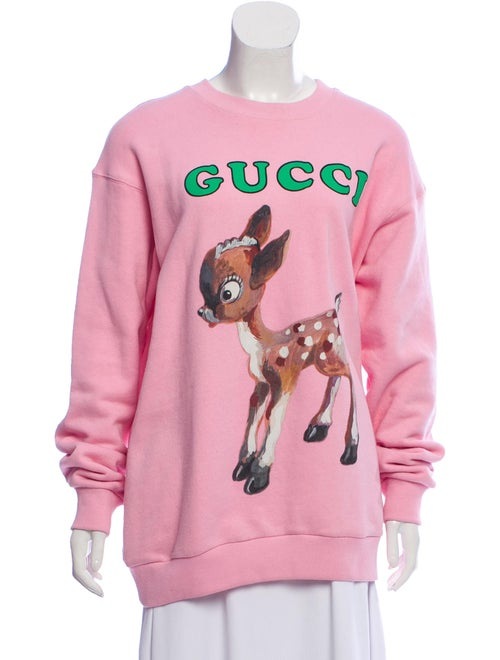 d27c61bc514 Gucci Oversized Fawn Sweatshirt - Clothing - GUC290307