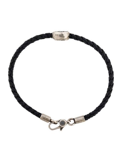 63b7f2753 Gucci Crest Tag Woven Leather Bracelet - Bracelets - GUC291164 | The ...