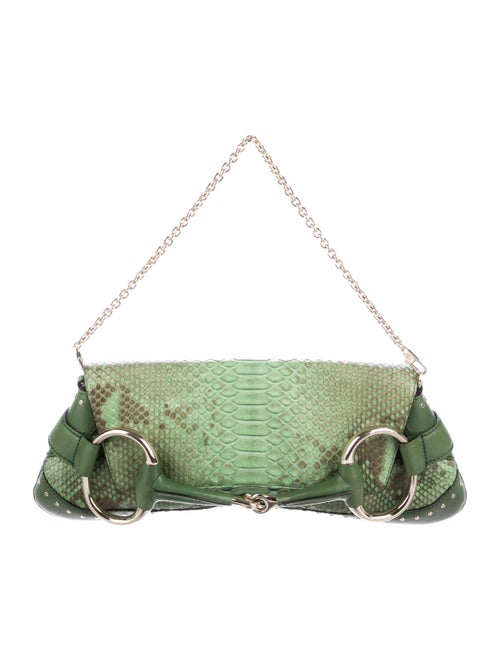 b37922ab08fd18 Gucci Python Horsebit Clutch - Handbags - GUC291229 | The RealReal