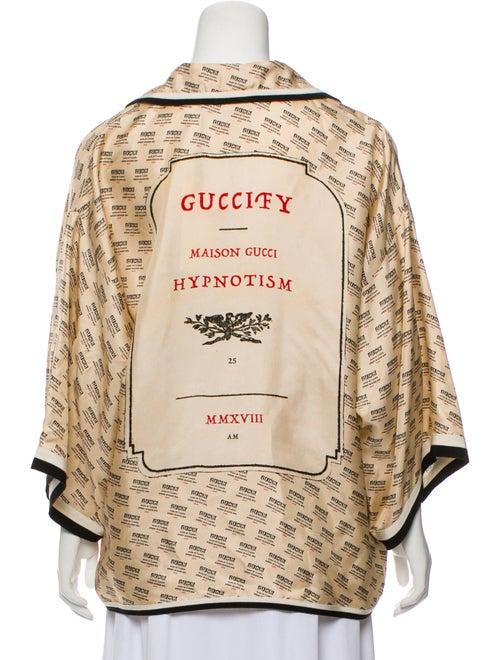 b8478f682efd Gucci 2018 Invite Stamp Silk Shirt w/ Tags - Clothing - GUC291508 ...