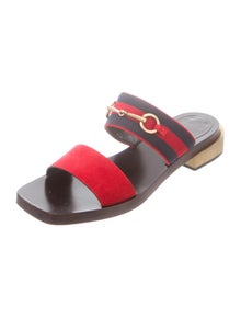 4e6f6437e728 Gucci. Web Horsebit Sandals