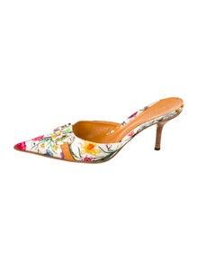 8e221159117 Gucci. Floral Satin Mules