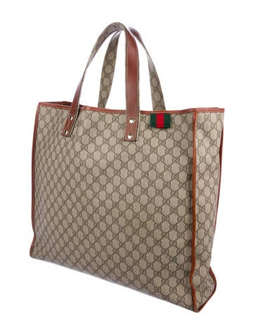 ed9f872606f9a5 Gucci Large GG Plus Web Loop Tote - Bags - GUC295860 | The RealReal