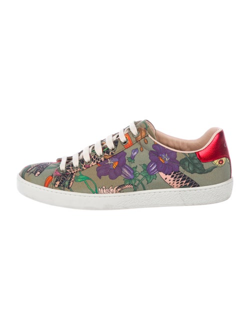b3b6cdc2ee9a1 Gucci Flora Snake Ace Sneakers - Shoes - GUC296175