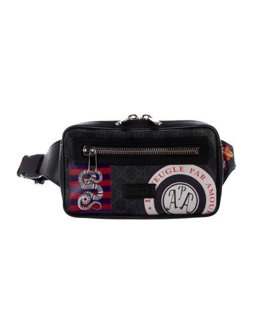 86c30e1d4080f5 Gucci Night Courrier Soft GG Supreme Belt Bag - Bags - GUC296213 ...