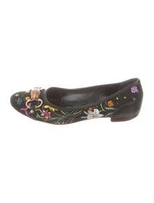 78d9616949f Gucci. Flora Horsebit Flats