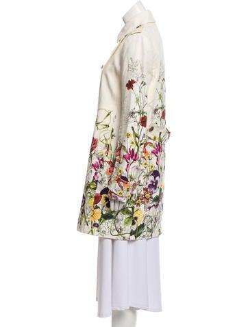 96bb0abeae5 Gucci Linen Flora Coat Gucci Linen Flora Coat