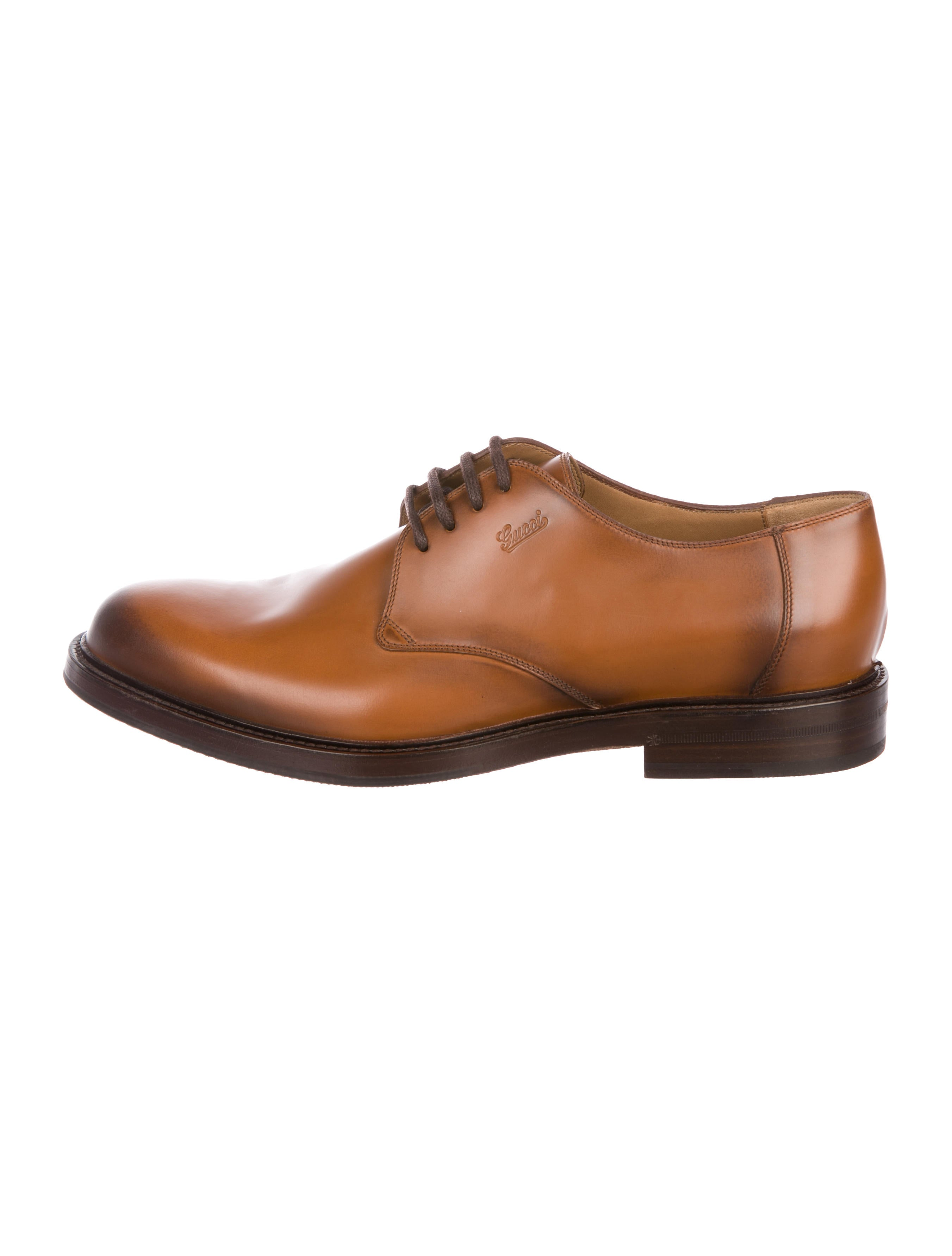 Gucci Leather Derby Shoes Shoes Guc297986 The Realreal
