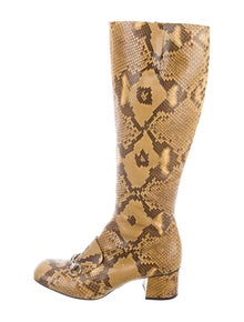 7b3b66831e5 Gucci. Lilian Python Boots