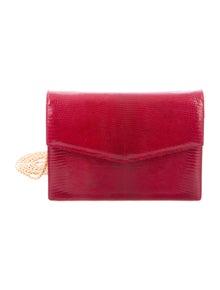 195e6c7d448a7 Gucci. Vintage Lizard Shoulder Bag