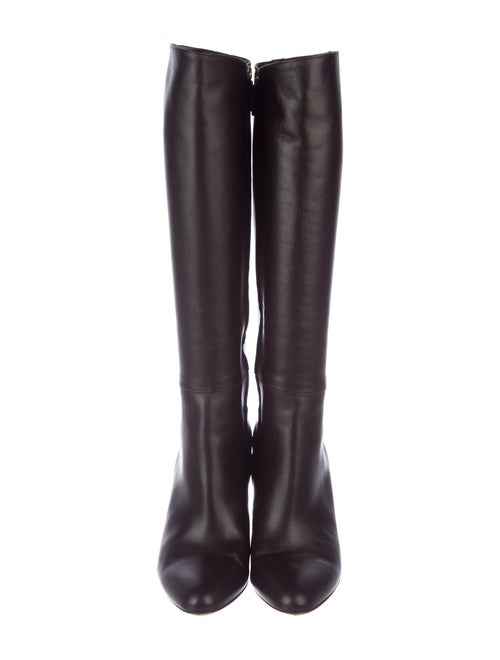 d8e150d45b4 Gucci Leather Pointed-Toe Knee-HIgh Boots - Shoes - GUC299573