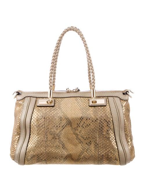 e98988fc5dd Gucci Python Bella Small Top Handle Bag - Handbags - GUC300560