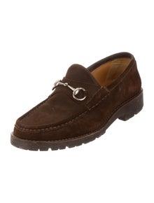 ec413b09d54 Gucci. Suede Horsebit Loafers