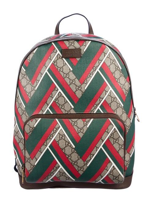 8edfdb1d6cea Gucci GG Supreme Chevron Backpack - Bags - GUC301689 | The RealReal