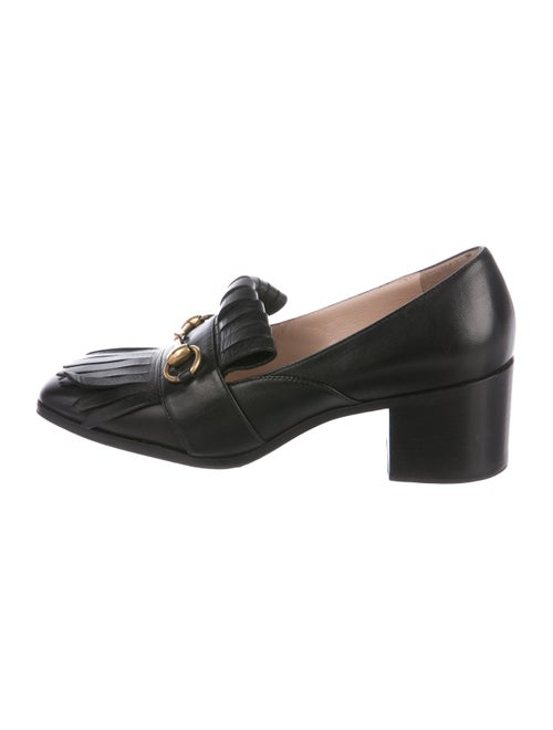 d887d3519e0 Gucci Leather Fringe Horsebit Loafer Pumps - Shoes - GUC302059