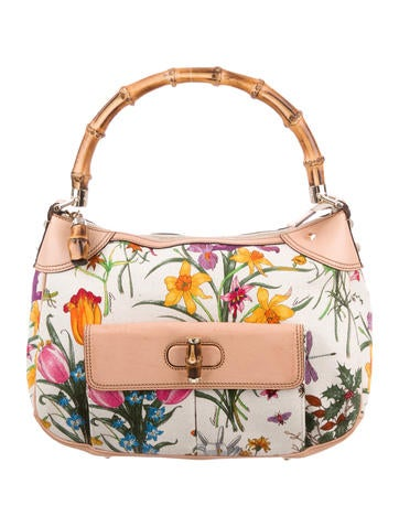 a5a3c79760d Gucci Top Handle Flora Bag ...