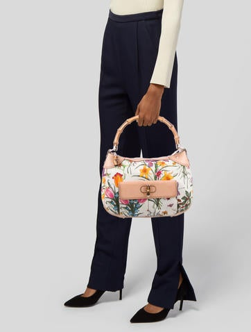 bbe5a36694b Gucci Top Handle Flora Bag Gucci Top Handle Flora Bag