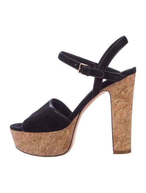112bdb27e3e Gucci Suede Ankle Strap Sandals - Shoes - GUC303826