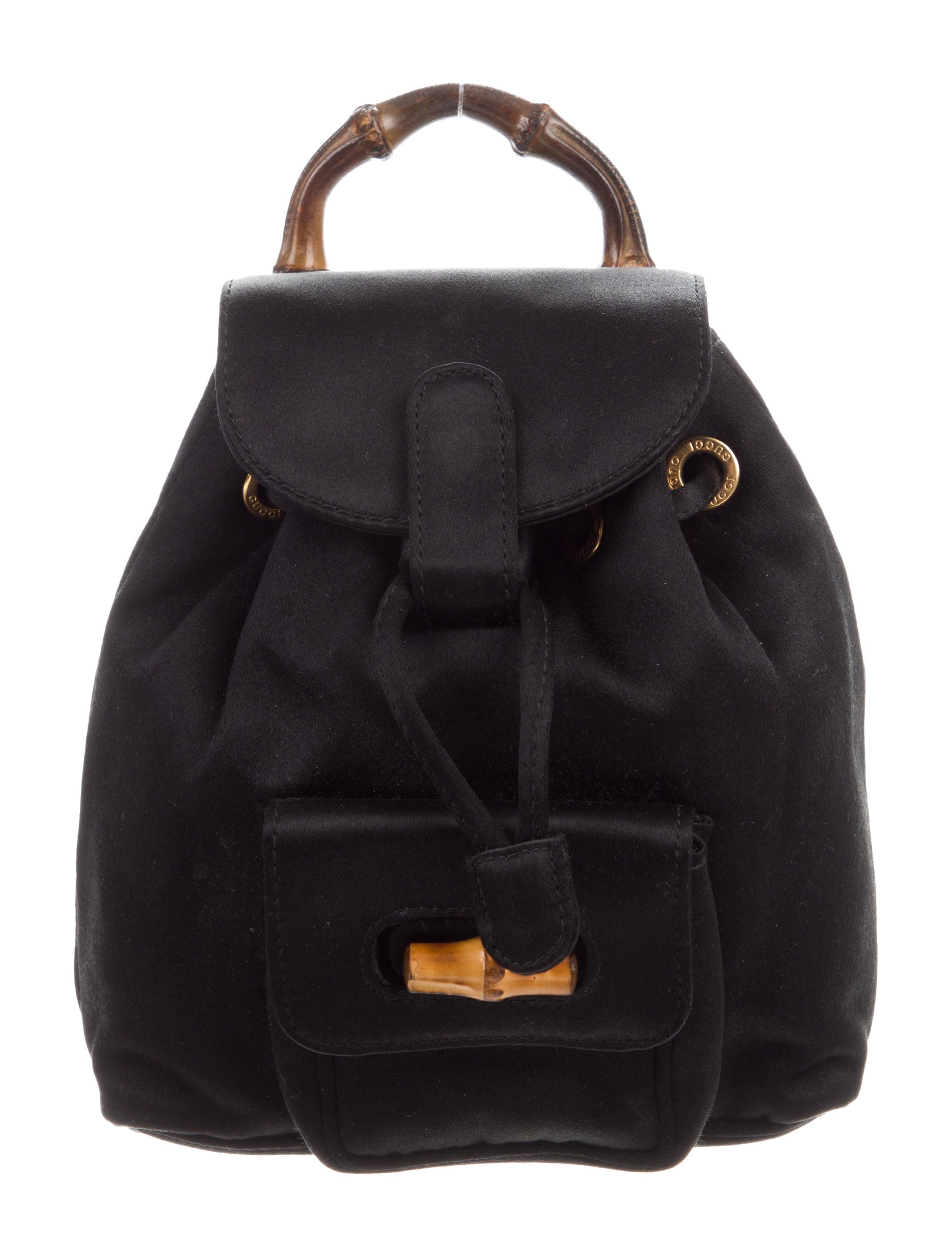 9ec6e400444 Gucci Satin Mini Backpack - Handbags - GUC303827