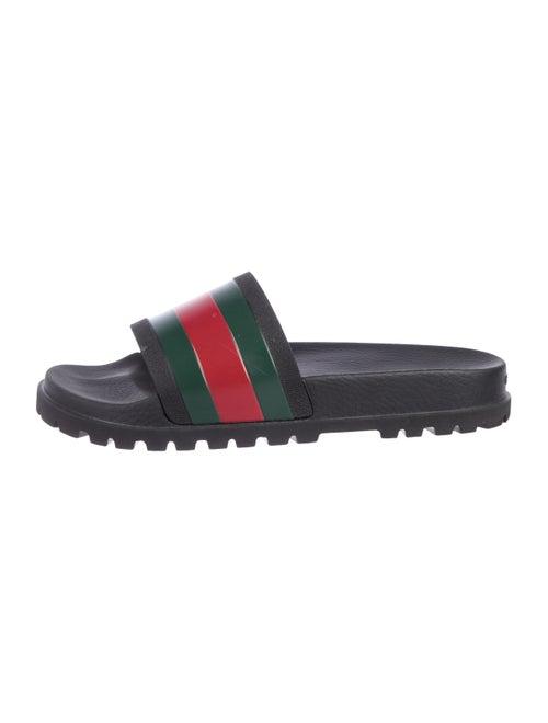e2a5bc9d5 Gucci Pursuit Track Slide Sandals - Shoes - GUC303968