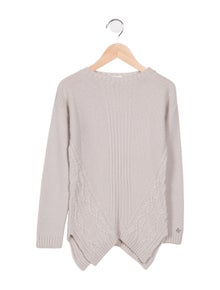 ef8aeabb4 Gucci. Girls' Asymmetrical Cable Knit Sweater