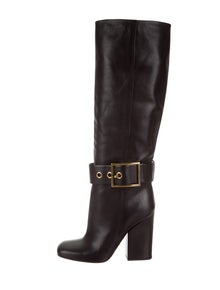 f3f93b9a2a6 Gucci. Leather Knee-High Boots