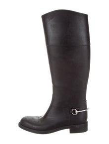 17bf4b9ac3e Gucci. Horsebit Knee-High Rain Boots